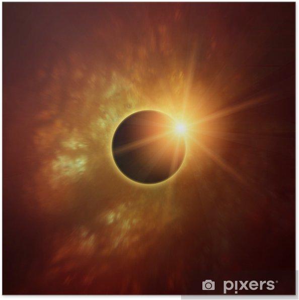 Poster Éclipse solaire - Espace