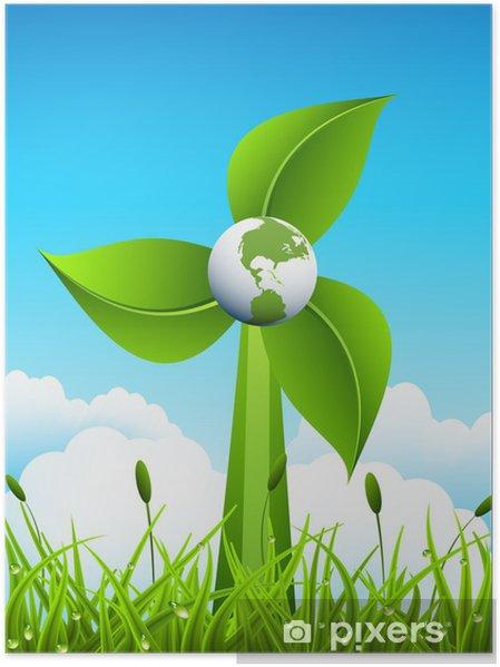Poster Eco concept - Nature et régions sauvages