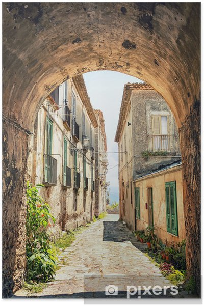Poster Een pittoreske hoek in Toscane, Italië -