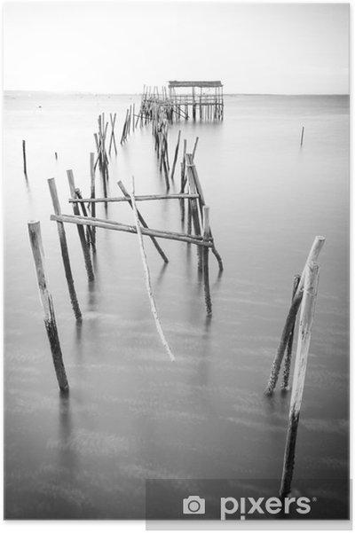 Poster Een rustige oude pier - Landschappen
