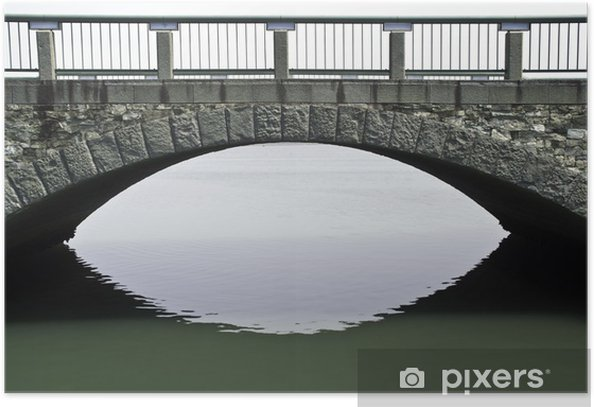 Poster Een stenen brug over de oceaan bij Wakayama - Azië