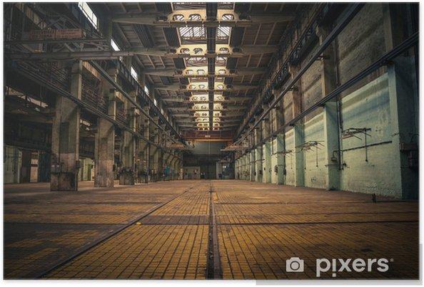 Poster Een verlaten industrieel interieur - Stijlen