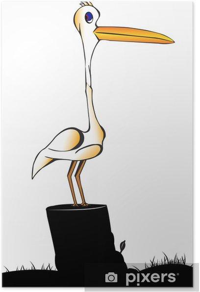 Poster Egret - Oiseaux
