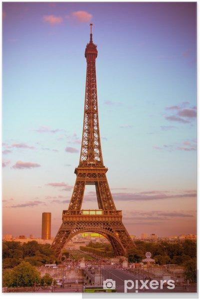 Póster Eiffel torre trofeos - Ciudades europeas