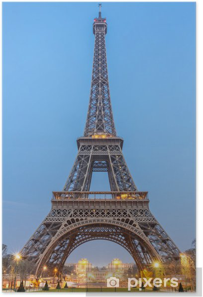 Eiffel Tower Sunrise Poster - Holidays