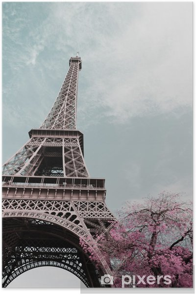 Poster Eiffel tower - Voyages