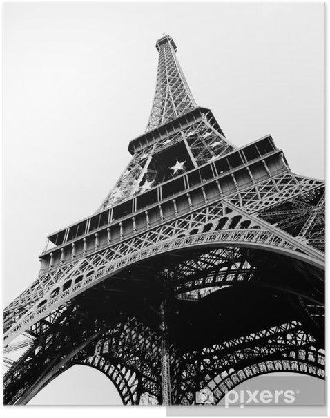 05c876d2ec4861 Eiffelturm Schwarz Weiß Poster • Pixers® • We live to change