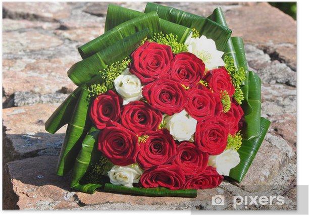Ein Brautstrauss Mit Roten Rosen Poster Pixers We Live To Change