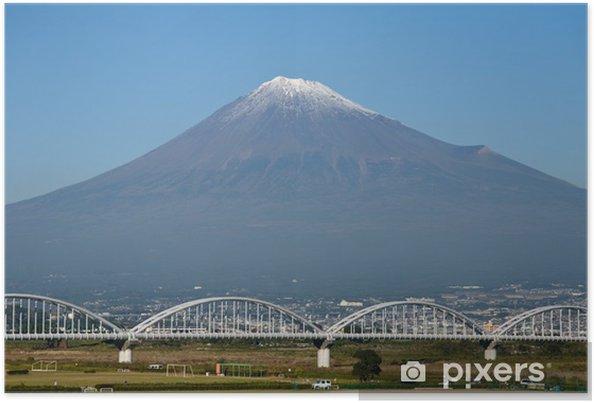Poster Eisenbahnbrücke suis Fuji, Japon - Asie
