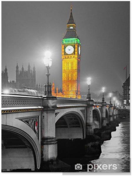 Póster El Big Ben, Londres, Reino Unido. -