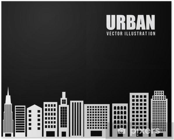 Póster El diseño urbano de la ciudad - Construcciones particulares