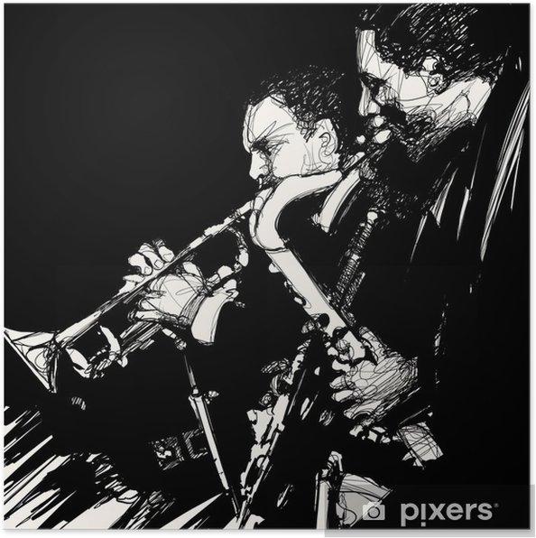 Póster El músico de jazz latón - Jazz