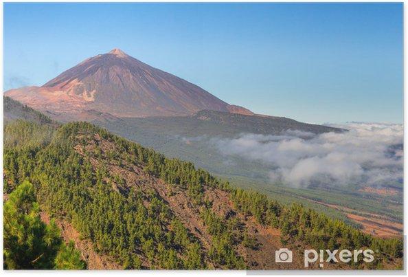 Póster El volcán Teide en Valle de La Orotava, Tenerife - Temas