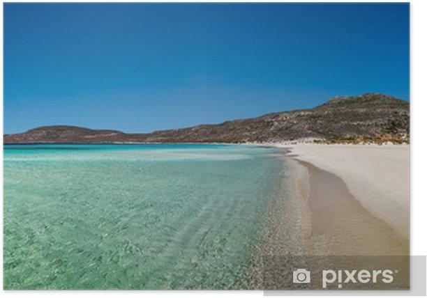 Poster Elafonissos vue sur la plage panoramique, Péloponnèse, Grèce - Europe