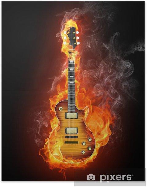 Electric Guitar Poster - Guitars