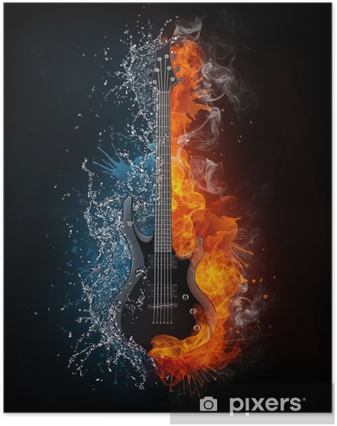 Electric Guitar Poster - Styles