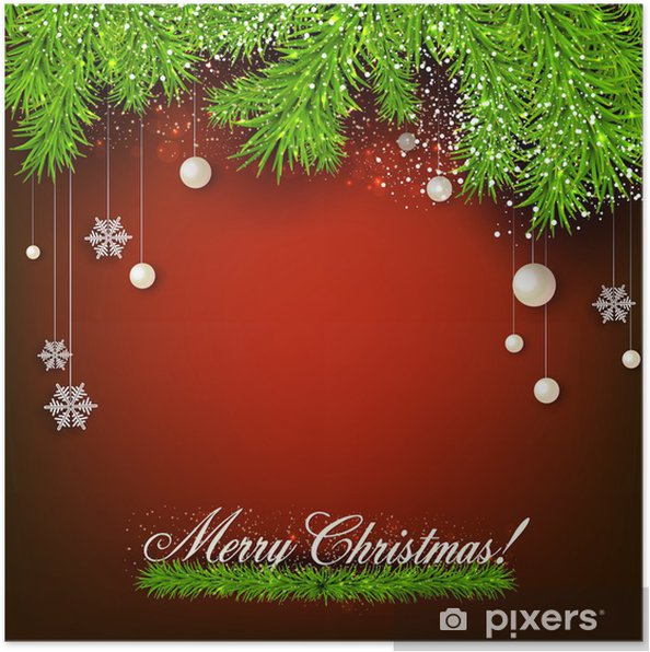Elegant Background With Christmas Garland Vector Illustration