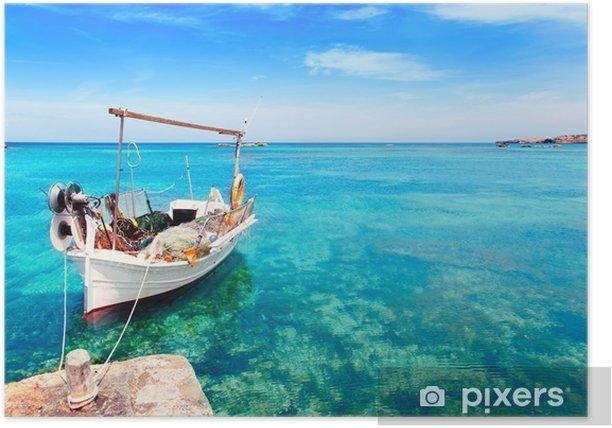 Poster Els Pujols plage de Formentera - Vacances