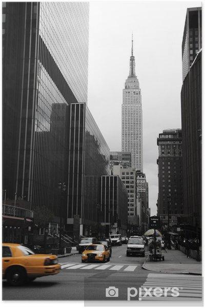 Poster Emipre State Building och gult, Manhattan, New York -