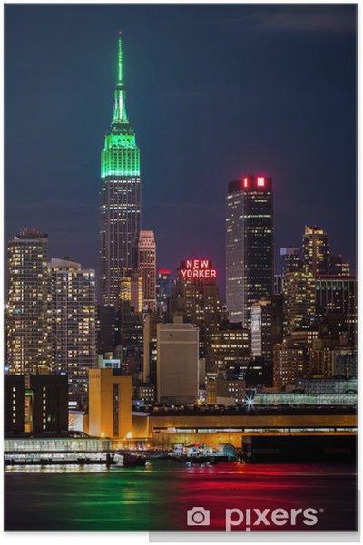 Poster Empire State Building le jour de la Saint Patrick. - Thèmes