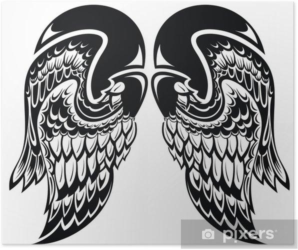 Poster Engel Wingstattoo Vleugels