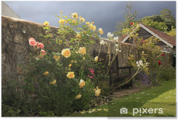 Poster English Country Rose Garden - Maisons et jardins