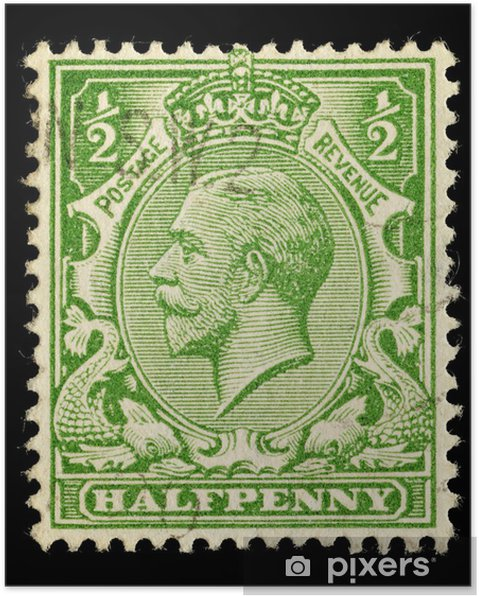 English Used Postage Stamp King George V Circa 1912 To 1924 Poster