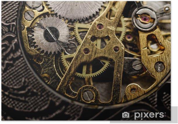 Poster Engrenages de montres très près - Styles