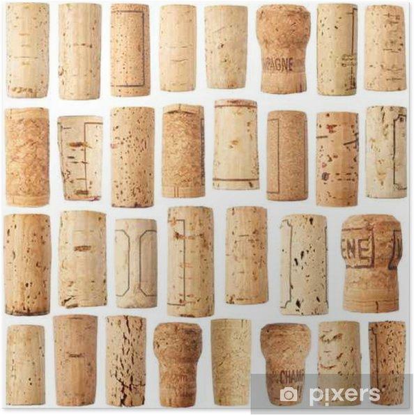 Poster Ensemble de liège vin - Boissons