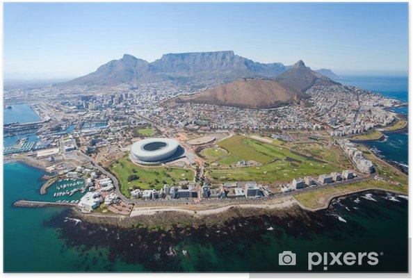 Poster Ensemble vue aérienne de Cape Town, Afrique du Sud - Destin