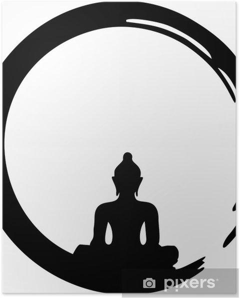Poster Enso Zen, meditatie, Boeddha - Muursticker