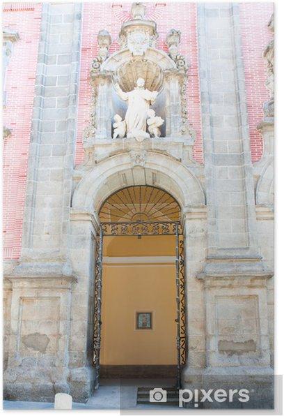 Poster Entrée à l'église San Millan et San Cayetano, Madrid, Espagne - Villes européennes