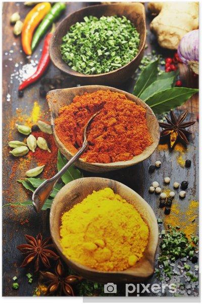 Poster Épices et fines herbes - Culinaire