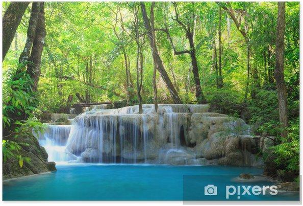 Poster Erawan Waterfall, Kanchanaburi, Thailand - Thema's