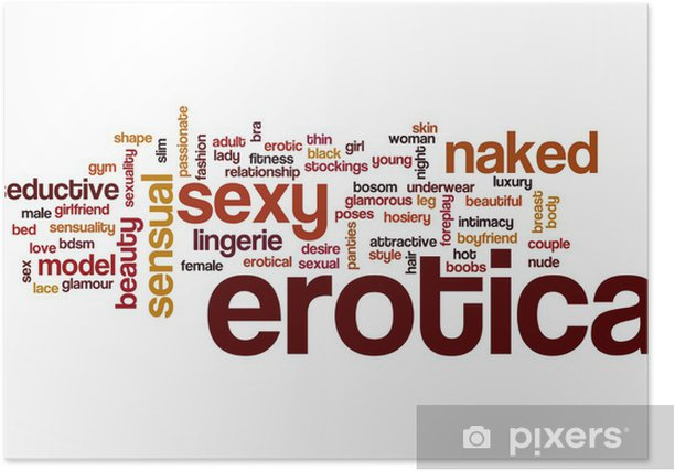 Erotica word cloud concept Poster -