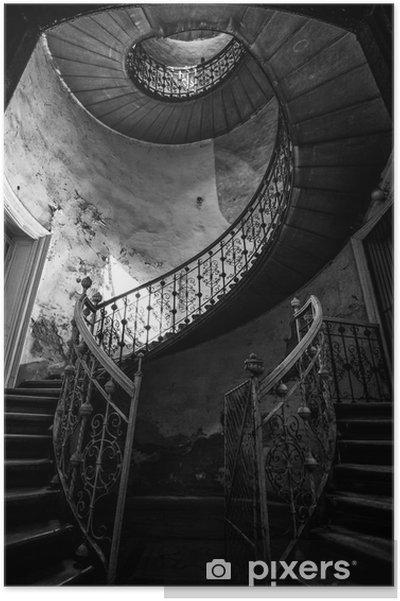 Póster Escalera de caracol - Construcciones y arquitectura