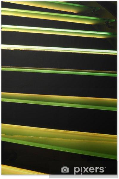 Póster Escaleras verdes - Construcciones particulares