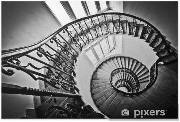 poster escalier en colima on noir et blanc pixers. Black Bedroom Furniture Sets. Home Design Ideas