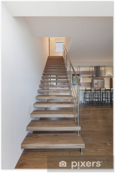 Poster Escalier moderne, intérieur de maison • Pixers® - Nous vivons ...