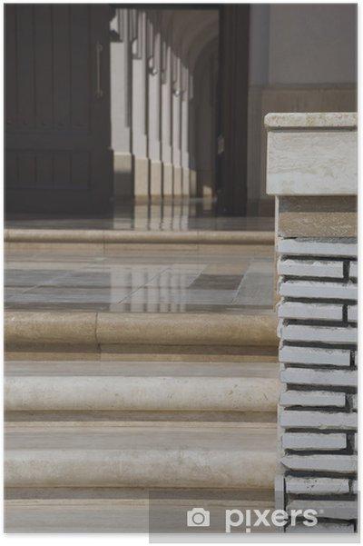 Poster Escaliers de la Grande Mosquée de Salalah, Oman - Bâtiments publics