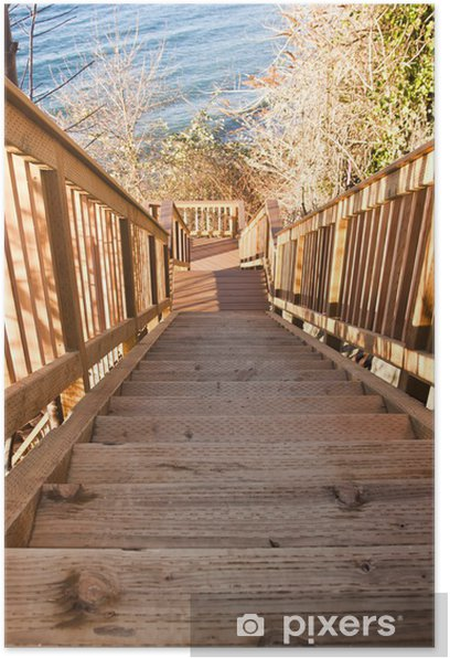 Poster Escaliers en bois - Thèmes