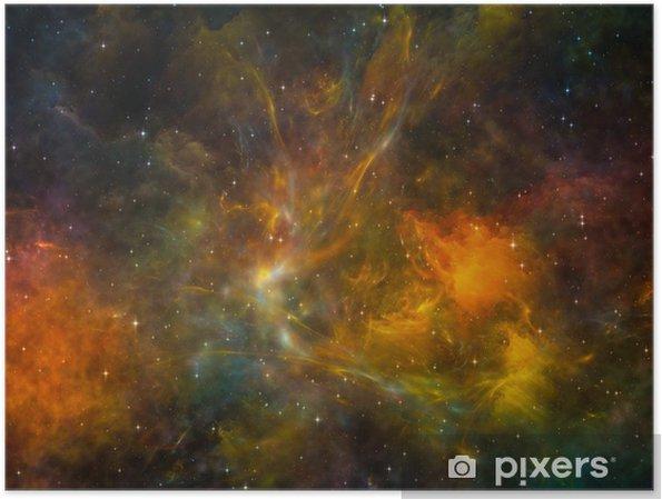 Poster Espace coloré - Merveilles naturelles