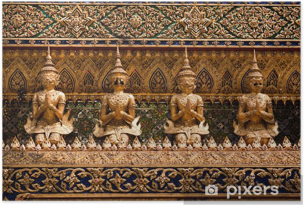 Póster Estatua de la diosa de Asia, Bangkok, Tailandia - Asia