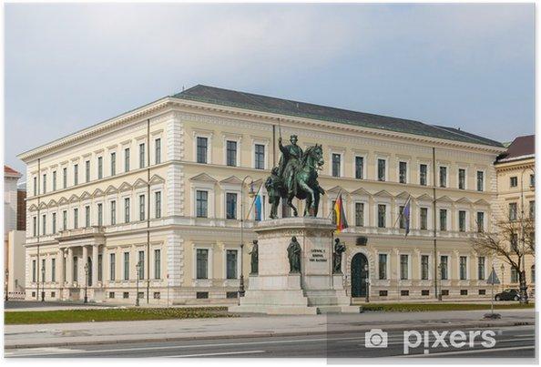 Póster Estatua de Luis I - Múnich, Baviera, Alemania - Europa
