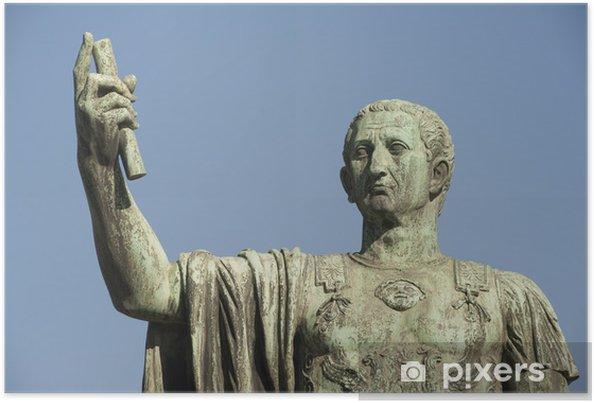 Póster Estatua del emperador Nerva, Roma - Ciudades europeas