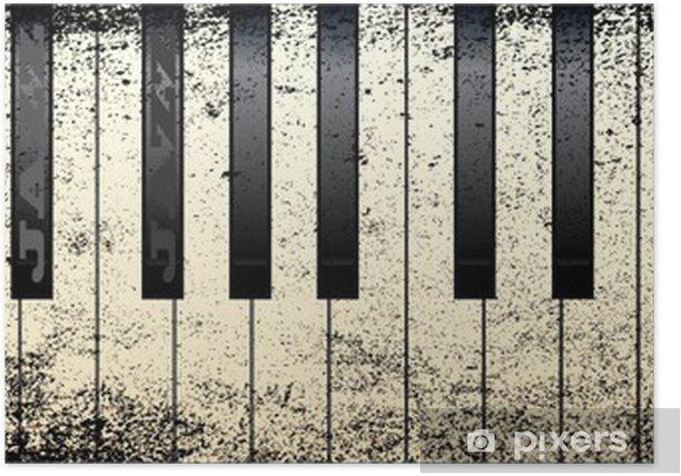 Póster Estilos Jazz Piano - Piano de cola