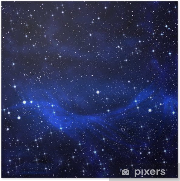 Póster Estrellado en el fondo del cielo nocturno, abstracta - Universo