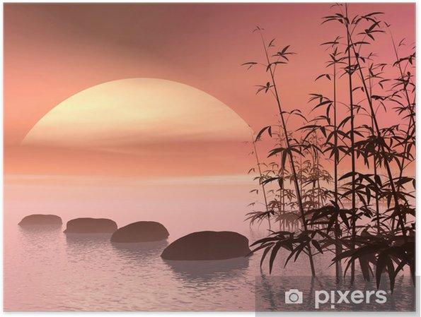 Poster Étapes asiatiques au soleil - 3D - Styles