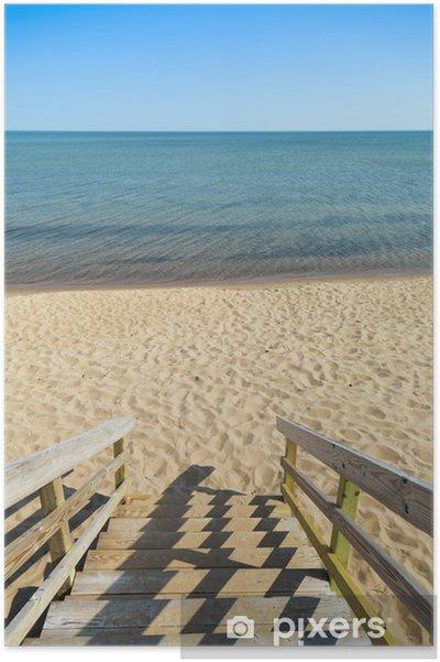 Poster Étapes de plage - Vacances