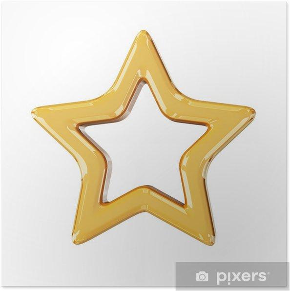 Poster Étoile d'or de Noël - Fêtes internationales
